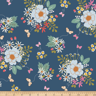 Riley Blake Wild Bouquet Main Navy