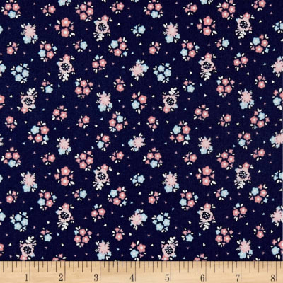 Riley Blake Hello Baby Floral Navy