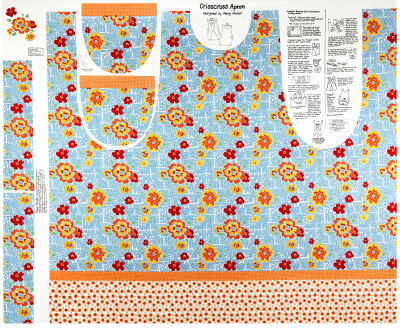 "Lemonade Sundae 44"" Apron Panel Blue"