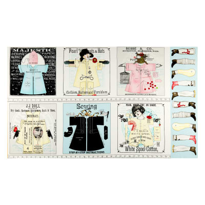 "Riley Blake Paperdoll Patch 24"" Panel Multi"