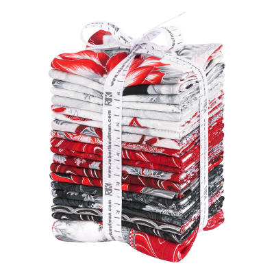 Kaufman Holiday Flourish 21 Pcs. Fat Quarters Bundle Metallic Silver