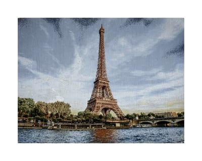 Photorealism Jacquard Wall Décor/Panel Eiffel Tower