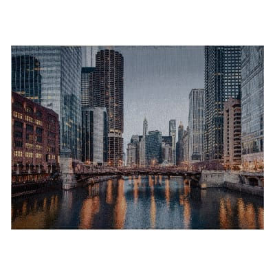 Photorealism Jacquard Wall Décor/Panel Chicago River