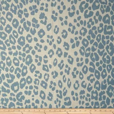 Schumacher Indoor/Outdoor Iconic Leopard Sky Canvas