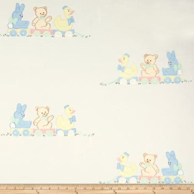 100% Cotton Teddy's Playground Embroidery