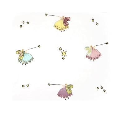 100% Cotton Cinderella Embroidery
