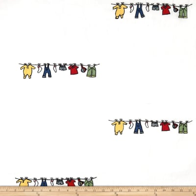100% Cotton Baby Clothes Line Embroidery