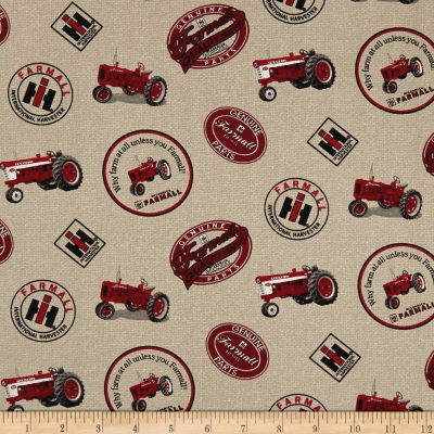 Farmall Country Burlap Logos