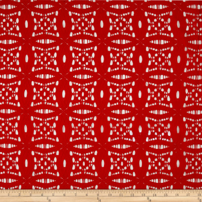 Medallion Lace Tomato Red