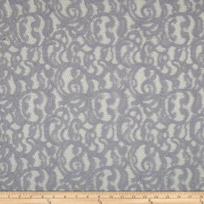 Scrolls Corded Lace Gray
