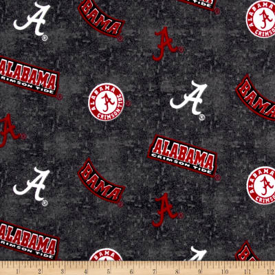 NCAA University Of Alabama Crimson Tide Flannel Distressed Logo