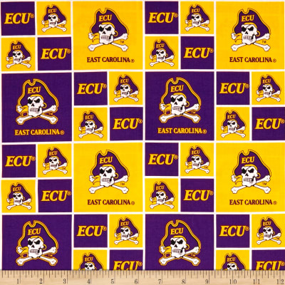 NCAA East Carolina University Box Logos Allover