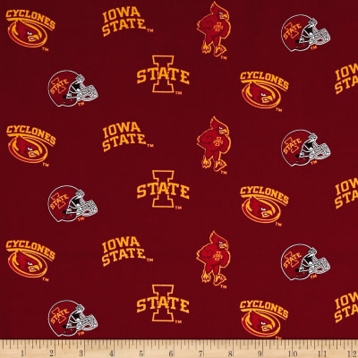 NCAA Iowa State Tossed Logos Red