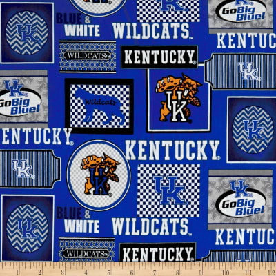 NCAA University of Kentucky Packed Patches Allover Blue