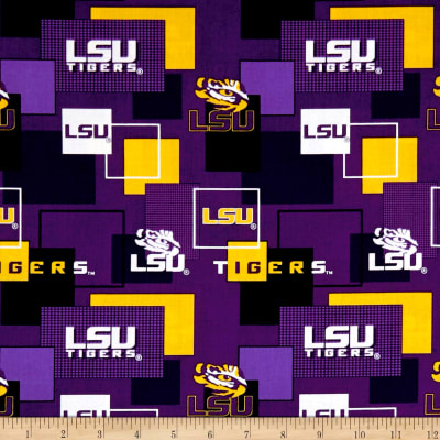 NCAA Louisiana State University Blocks Allover Purple