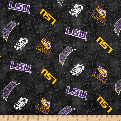 NCAA Louisiana State University Flannel Distressed Logo Grey