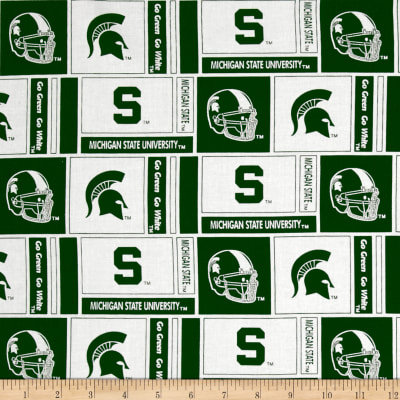 NCAA Michigan State University Herringbone Box White/Green