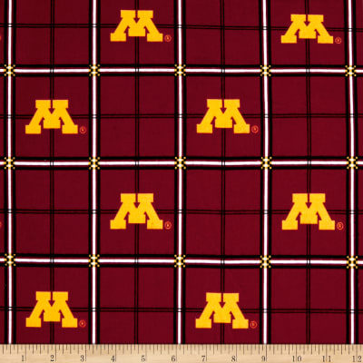 NCAA University of Minnesota Gophers Flannel Plaid Red