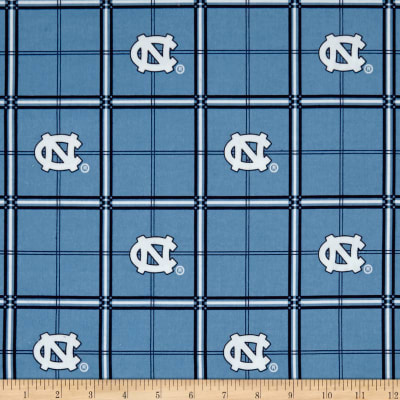 NCAA University of North Carolina Tarheels Flannel Plaid Blue/White