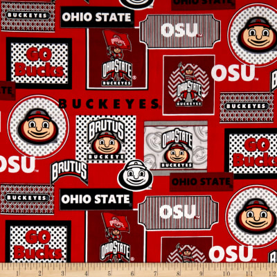 NCAA Ohio State Packed Patches Allover Red/White