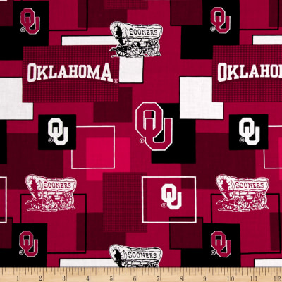 NCAA University of Oklahoma Blocks Allover Red