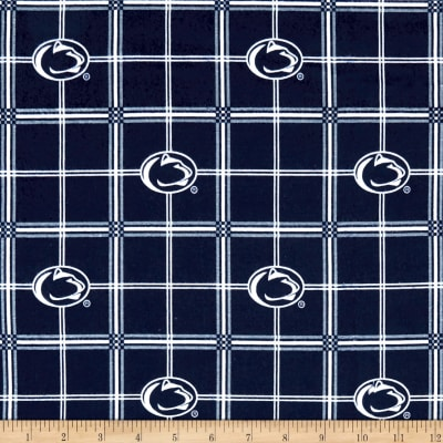 NCAA Penn State Nittany Lions Flannel Plaid Blue