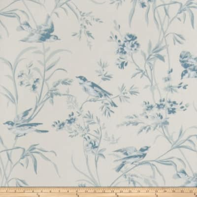 French General Aviary Toile Wallpaper La Mer (Double Roll)