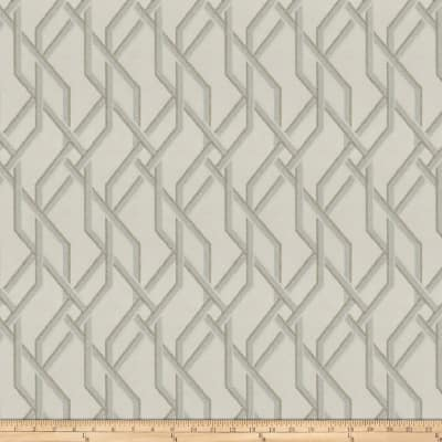 Fabricut Chert Lattice Faux Silk Glimmering Ecru