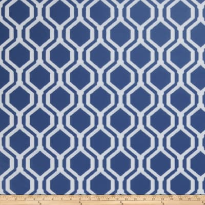 Fabricut 50078w Keys Geo Wallpaper Navy 04 (Double Roll)