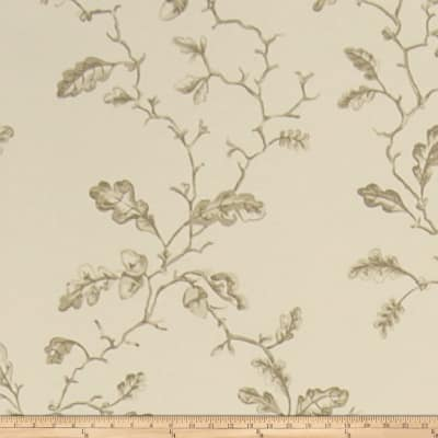 Charles Faudree Trailing Acorns Wallpaper Linen (Double Roll)