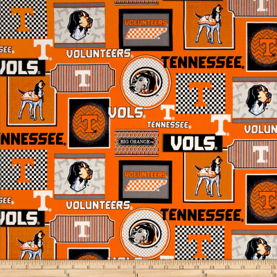 NCAA University of Tennessee Packed Patches Allover Orange