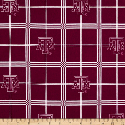 NCAA Texas A&M University Aggies Flannel Plaid Red/White