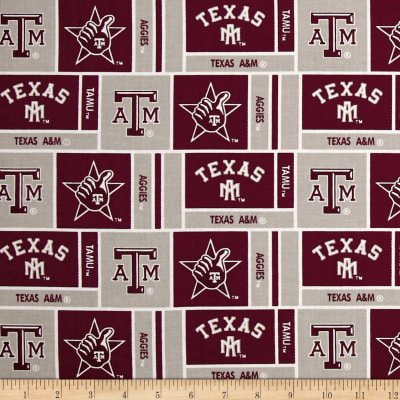 NCAA Texas A&M University Herringbone Box Maroon