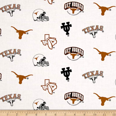 NCAA University of Texas Tossed Logos White