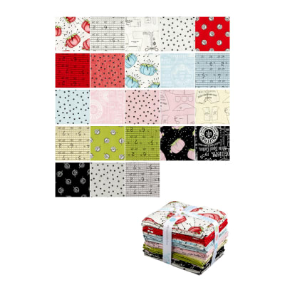 Riley Blake Paperdoll Fat Quarter Bundle 23 Pcs Multi