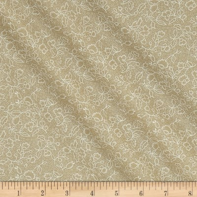 Classic Tone on Tone Floral White/Tea Stain