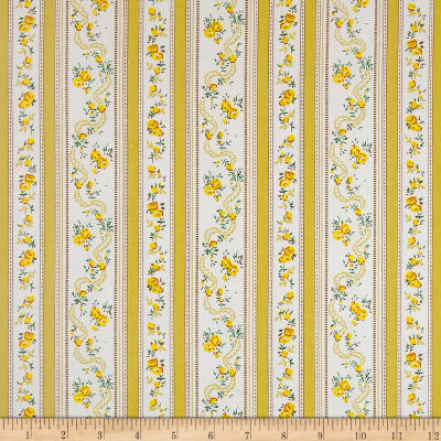 Dolphin Floral Stripe Yellow