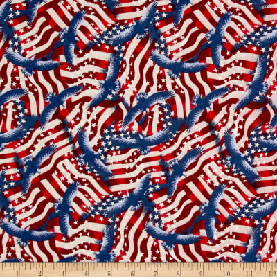 Made In The USA II Flags Red/White/Blue