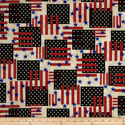 Made In The USA II Flags Antique