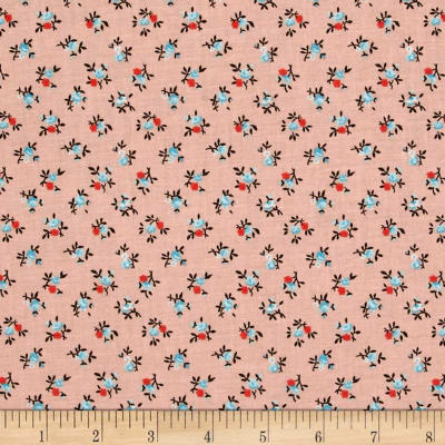 New Country Calicos Flowers Soft Coral