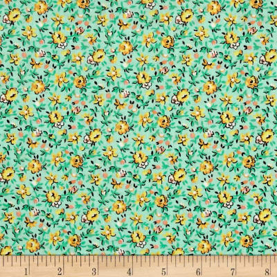 New Country Calicos Floral Mint