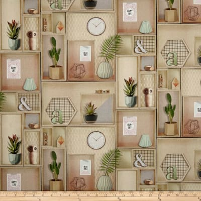 Stof France Deco Basketweave Natural