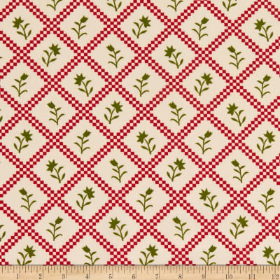 """108"""" Wide Traditional Quilts Roses Multi/Cream"""