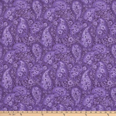 "108"" Wide Back Paisley Deep Purple"