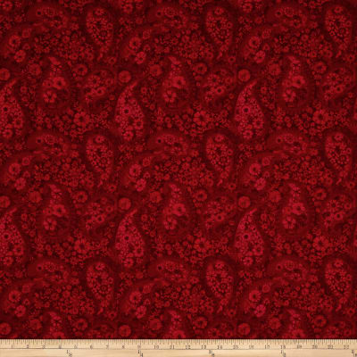 """108"""" Wide Back Paisley Red"""