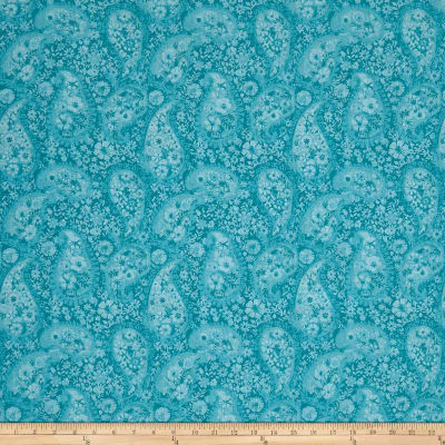 "108"" Wide Back Paisley Turquoise"