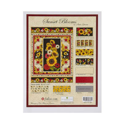 "Wilmington Sunset Blooms Kit - Throw Quilt - 50-1/2"" x 67"""
