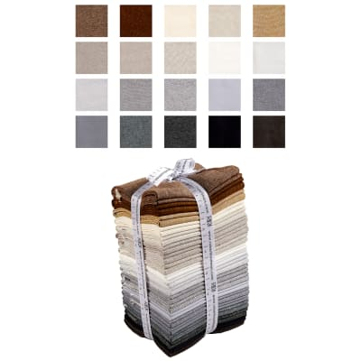 Kaufman Chalk and Charcoal Fat Quarter 20 Pcs Bundle Coordinate