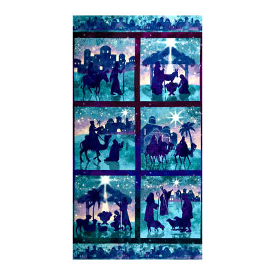 """Joy To The World 24"""" Scenic Panel Teal"""