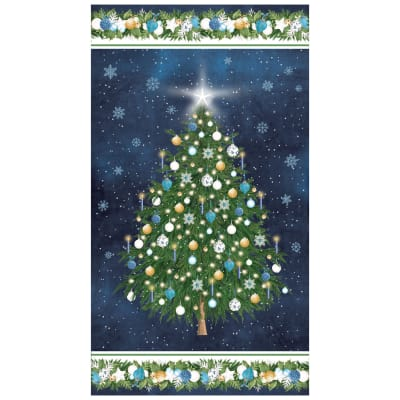 "O Christmas Tree Christmas Tree 24"" Panel Navy"